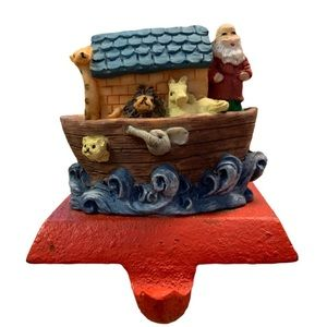 🍍5/$20 Noah Ark Cast Iron Christmas Stocking Hang